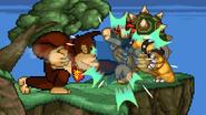 Donkey Kong uses Giant Punch