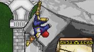 Falcon Kick bouncing off a wall.
