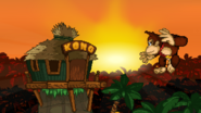 Donkey Kong and his home