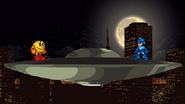 Entering a UFO