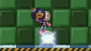 Bomberman jumping with a bomb