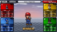 SSF2 Group results screen (early 4)