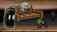 Boo with Luigi and Sandbag
