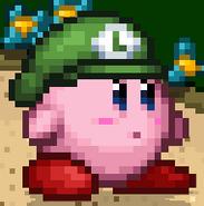 SSF2 Luigi Hat Kirby