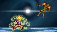SSJ Goku up throw finish