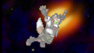Fox free falling