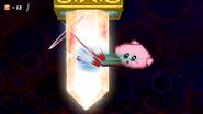 Kirby smashing the crystals