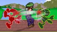 Luigi using Luigi Cyclone