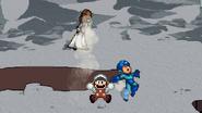 Fire Mario uses Firewall Tornado
