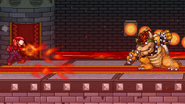 Bowser uses Fire Breath