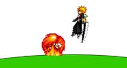 Fire Mario Eruption attack