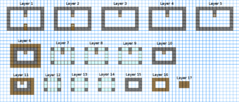 Castle Minecraft Blueprints Layer By Layer