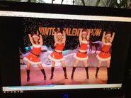 Doing Jingle Bell Rock dance