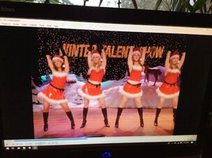 Doing Jingle Bell Rock dance