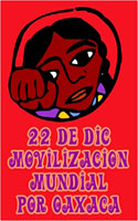 Oaxaca solidarity actions on december 22