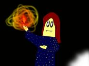 Fiona mit Feuer