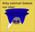 Kirby zeichnet Galacta von oben