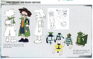 Concept art of Zack - Early Designs and Rough Sketches