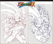 Sketches Rockman Zero & ZX Double Hero