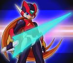 Battle Chip Z Saber artwork 2
