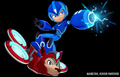 Mega Man Fully Charged Mega Man and Rush Render