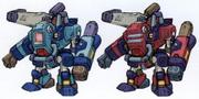 Mega Man X8 Ride Armors concept