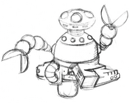 MM1 Wily Machine 1 early concept 1