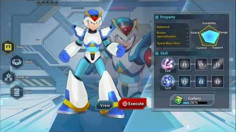 Mega Man X DiVE - First Armor X Easter Egg