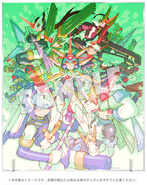 Rockman Zero & ZX Double Hero Collection Villains Art