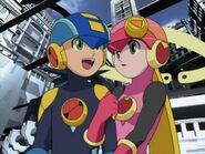 MegaMan and Roll in Net City