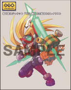 Rockman Zero & ZX Double Hero Collection bonus (Recoil Rod)