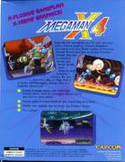 Mega Man X4 (PC) (US) back