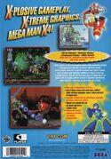 Mega Man X4 Sega Saturn back