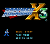 Rockman X3 Title Screen