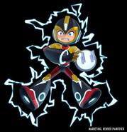 Mega Man Fully Charged Mega Man (Elec Man Schematic) Render