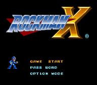 Rockman X Title Screen