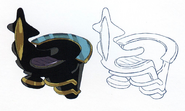 Concept art of Mr. King - floating chair