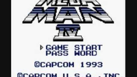 Gameboy Mega Man 4 Intro and Title Screen