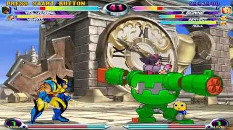 Marvel vs Capcom 2 - Tron Servbot Fight (MegaMan Legends)