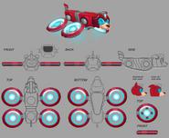 Mega Man Fully Charged Rush Concept B