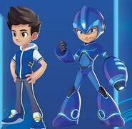 Aki and Mega Man