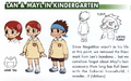 Lan and Mayl in Kindergarten concept art