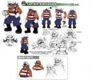 Captain Blackbeard concept art