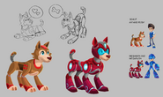 Mega Man Fully Charged Rush Concept A