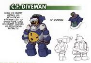 C.F. DiveMan - Blackbeard concept art.