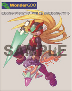 Rockman Zero & ZX Double Hero Collection bonus (Z-Saber)