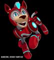 Mega Man Fully Charged Rush (Transformed) Render