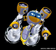 Mega Man Fully Charged Air Man Render