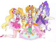 Love As Cure Miracle, Miki As Cure Magical, Inori As Cure Mofurun, Setsuna As Cure Felice, chiffon (pretty cure), Tarte As Honeybee, By geno2925