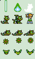 Roll (Super Adapter) Sprites of the Rockman 7 FC Extra Editions